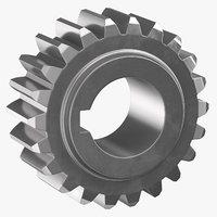 spur gear 01 3D model