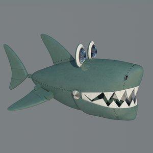 3D model cartoon shark - robot