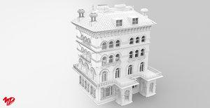 3D victorian building