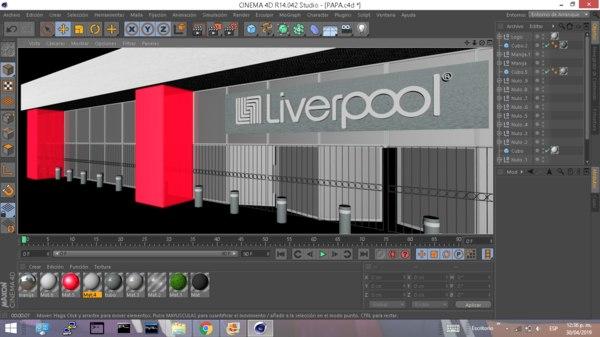 3D liverpool model