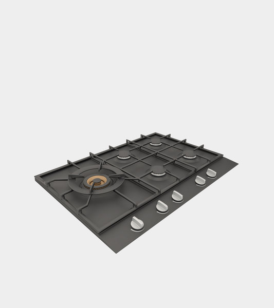 gas hob modeled 3D model
