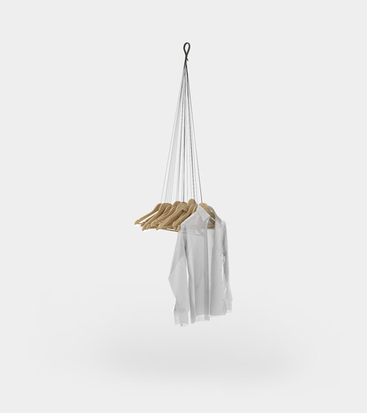 3D hanging coat rack hangers