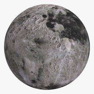 3D moon 8k