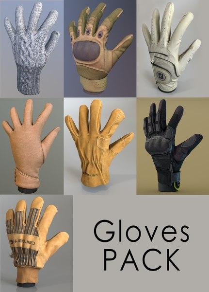 gloves cuff winter model