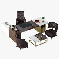 Custom Design Ceo Boss Office Furniture Set Design