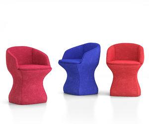 3D model so-pretty chairs