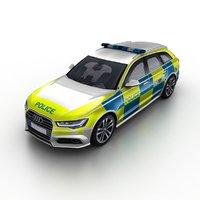2016 audi a6 police 3D model