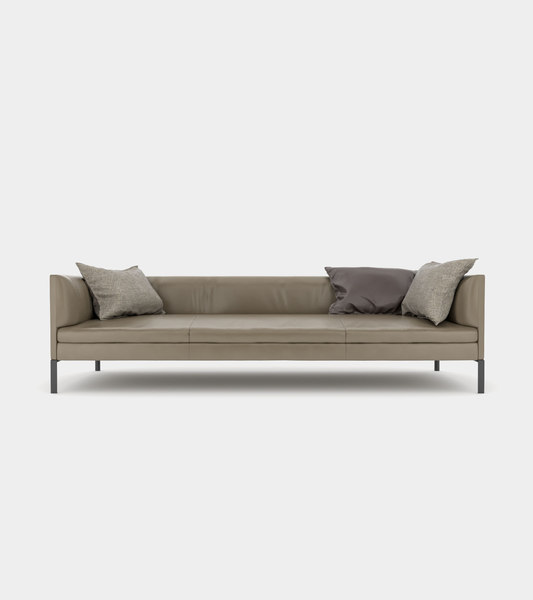 3D leather couch cushions modelled