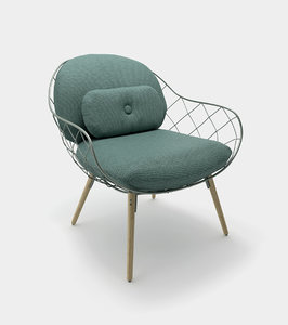 armchair lounge chair modelled 3D model
