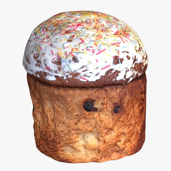 3D realistic kulich - easter