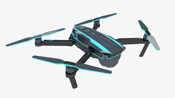 futuristic drone model