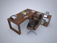 MOdern Office Desk with Chair(1)