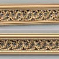 3D decorative molding model