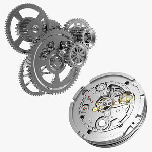 3D clock mechanisms model