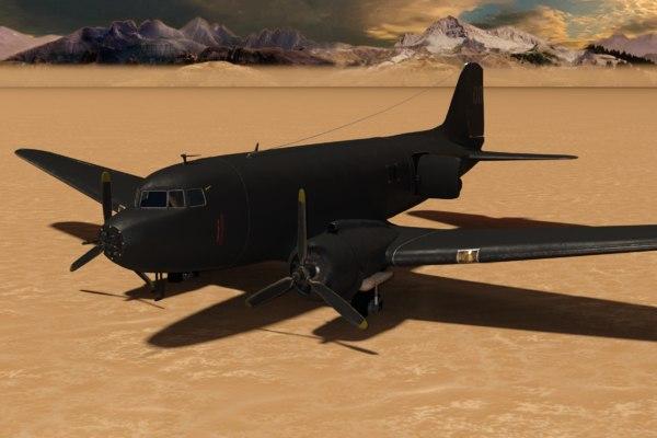 military plane model