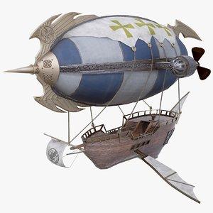 3D fantasy airship air