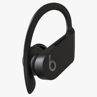 3D model powerbeats pro earphone