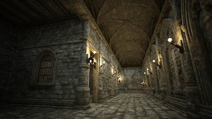 dilapidated gothic conference 3D model