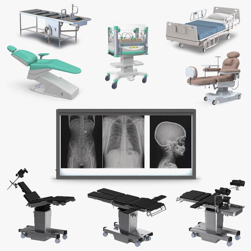 medical equipment 3 3D model