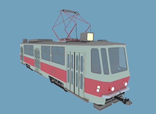 3D tram tatra t6b5