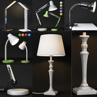 SET OF 5 TABLE LAMPS