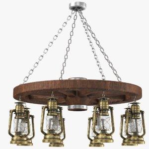 kerosene lantern chandelier model