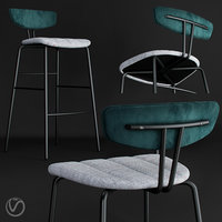3D chair amy barstool model