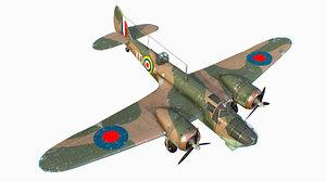3D british light bomber bristol