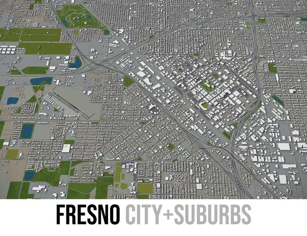 3D model city fresno