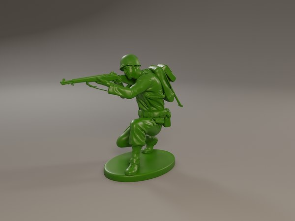 american soldier ww2 shoot 3D