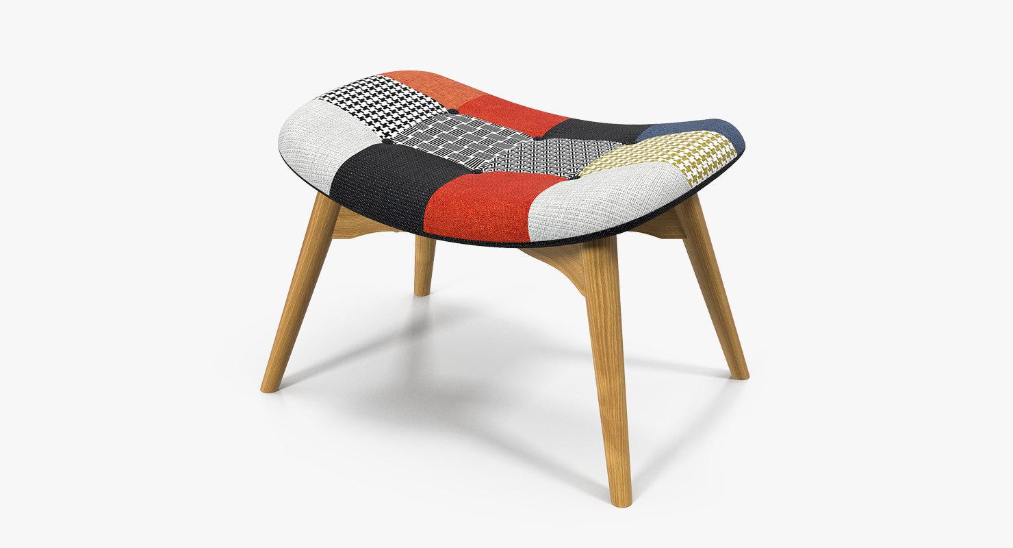 patchwork foot seat 3D model