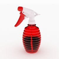 3D spray bottle model
