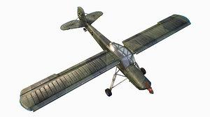 3D model german liaison aircraft fieseler