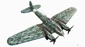 3D german medium bomber heinkel