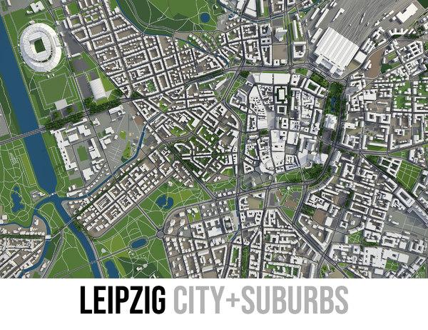 city leipzig 3D model