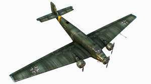 german transport aircraft junkers 3D model