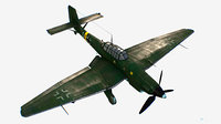 3D german bomber ground-attack junkers ju model
