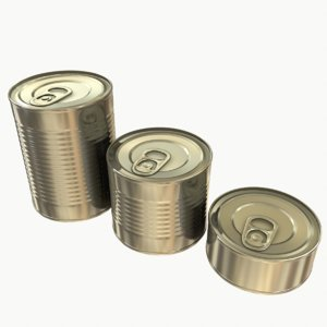 3D tins cans pack