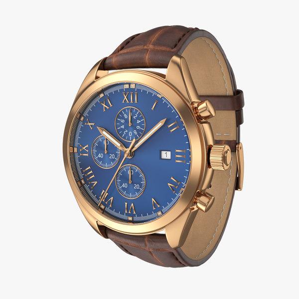 classic watch 4 3D model