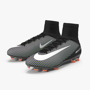 black nike mercurial veloce 3D model