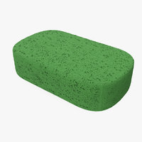 3D car wash sponge model
