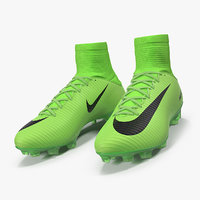 3D green football cleats nike model