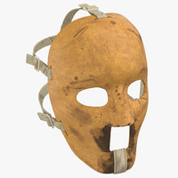 old hockey mask worn 3D