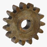 old spur gear 01 3D model