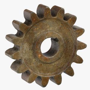 old spur gear 01 3D model