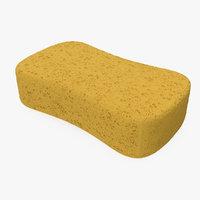 washing sponge 3D model