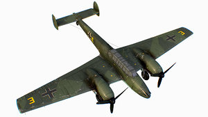 3D german fighter bomber messerschmitt