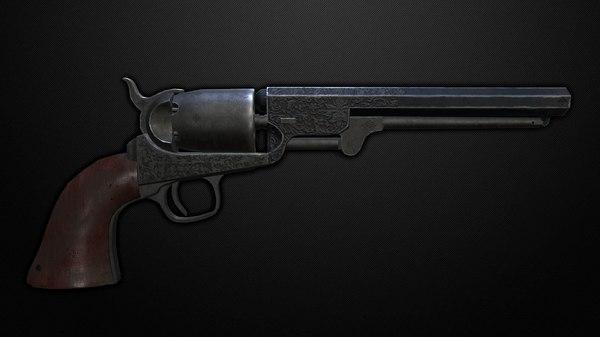 3D revolver colt navy 1851 model