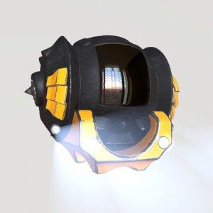 submarine pbr realistic model