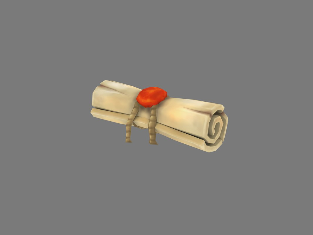 scroll handpaint 3D model
